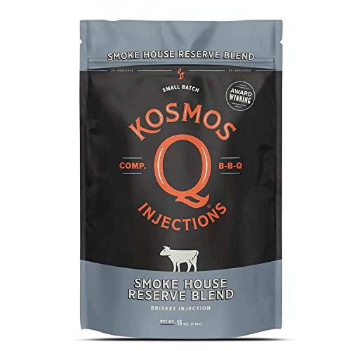 Kosmos Q Injections Smoke House Reserve Blend BBQ Brisket Injection, Pack of 16 Oz
