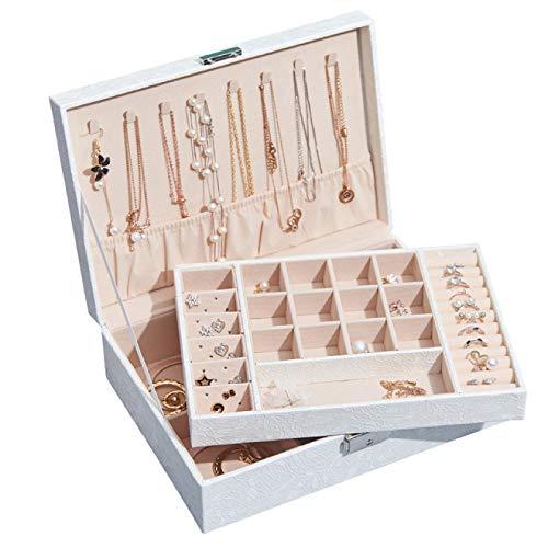 SENFEISM Caja de reloj de la joyería nueva caja de almacenamiento de la joyería de cuero creativo portátil multi capa maquillaje caja de almacenamiento pu reloj caja collar