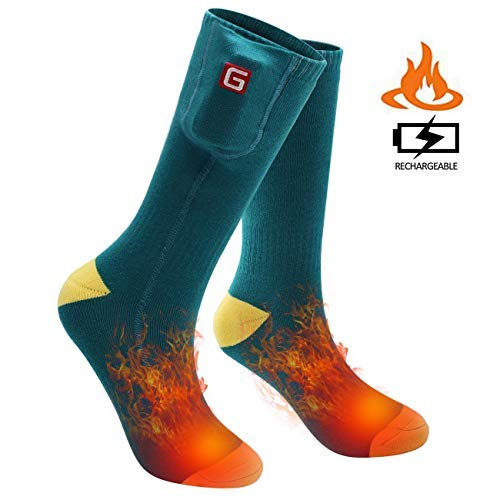 SVPRO Electric Battery Operated Heated Socks Men Women Rechargeable Washable for Hunting Winter fitfort Skiing Mobile Warming Powered Action Volt Best USB Heated Socks
