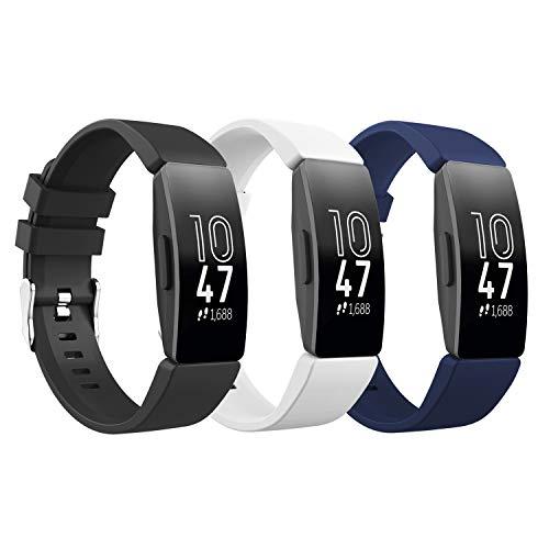TiMOVO Pulsera Compatible con Fitbit Inspire/Inspire HR/Inspire 2/Ace 2, [3-Pack] Pulsera de Silicona, Correa de Reloj...