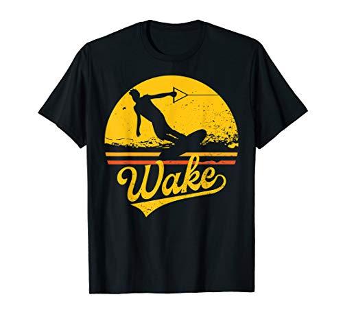 Vintage Wakeboard Sunset Geschenk Wakeboarder Wakeboarding T-Shirt