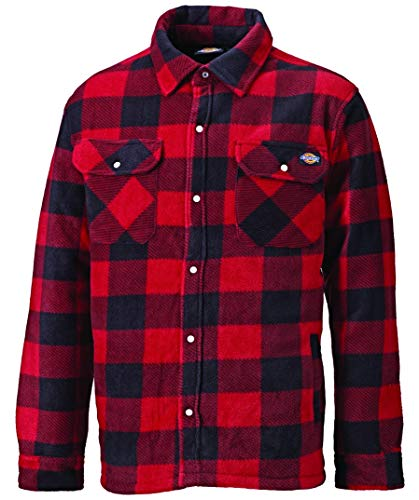 Dickies Portland, camicia imbottita in pile (SH5000) verde/blu navy Red - Red / black Medium