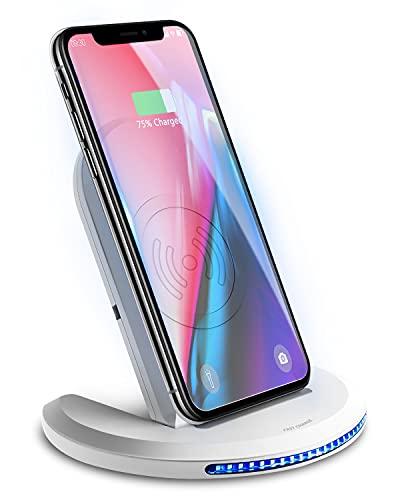 Wireless Charger Induktions Ladegerät Qi Charger Drahtlose Faltbare Schnellladegerät für Samsung Galaxy S20+ S8 S7 Edge/10/9/8, iPhone 12/SE /11 Pro/8 Plus und Alle Qi Fähige Geräte