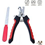 LiGG Professional Dog Nail Clippers Stainless Pet Care Nail With Quick Protective Guard, Safety Lock and Nail File - Suitable for Small Medium and Large Breeds Claw Clipper Grooming Trimmer(Red)