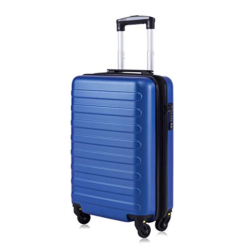 """Toctoto Equipaje De Mano Expandible con Bloqueo TSA (20""""41LT 55x35x20cm), Adecuado para Vuelos De Bajo Costo Ryanair, Vueling, Wizz Air(20""""(55cm-41L)-Royal)"""