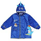Dfghbn Kinder Regen Poncho Cartoon Raincoat Reflective Gürteltasche Kinder Raincoat Jungen und Mädchen Baby-Poncho für Alter 2-10 (Farbe : Blau, Size : M)