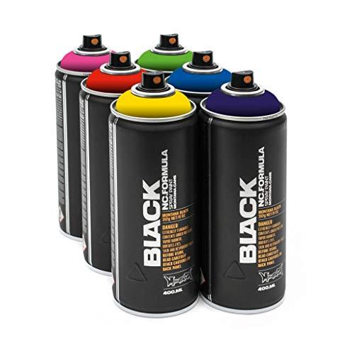 Montana Black 6x 400ml Power Sprühdosen Pack