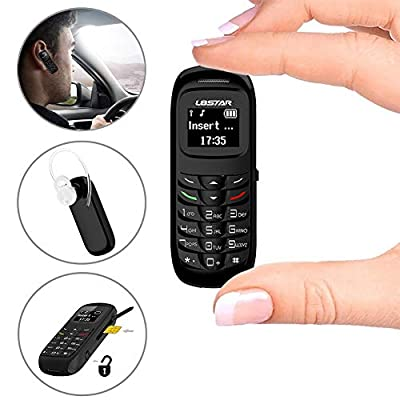 L8star Mini Small Mobile Cell Phone BM70 GSM Bluetooth Dialer Headset Earphone Support SIM Card 0.66 inch(Black)