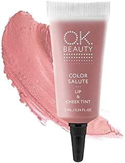 O.K. Beauty Color Salute Lip n Cheek Tint – Long Lasting Velvet Finish Lip Care & Blush in 6 trendy colors – Multipurpose Paraben Free Makeup, Cosmetics (Safari)