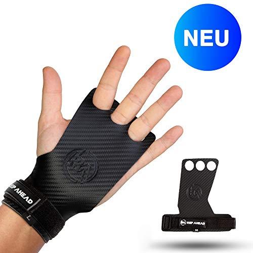 REP AHEAD® Crossfit Handschuhe (Hero Grips) - Extra starker Halt - Innovative Fitness-Handschuhe für Crossfit, Fitness, Gym, Gewichtheben, Bodybuilding, Kraftsport, Turnen, Calisthenics