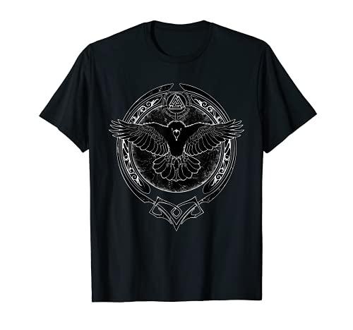Cuervo vikingo y símbolo de Valknut Camiseta
