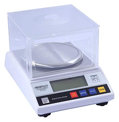 0.01g Escala analítica electrónica, escalas de conteo multifuncionales de precisión de balance LCD Backlit Wtrackshield for la farmacia del hogar Pesaje de joyería de cocina (1000 g / 0.01 g) Almacena