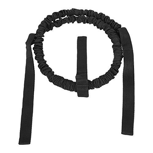 Heitune Fitness Roller Workout Bauchtrainingsgerät Assist Zugband Widerstand Gürtel Zubehör Einfachseil Schwarz