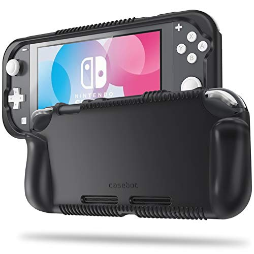 Fintie Case for Nintendo Switch Lite 2019 - Soft Silicone [Shock Proof] [Anti-Slip] Protective Cover with Ergonomic Grip Design for Switch Lite Console (Black)