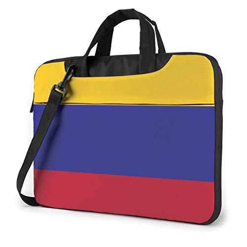 QUEMIN Estuche para computadora portátil con la bandera de Colombia y correas para los hombros para computadora portátil, 15.6 pulgadas