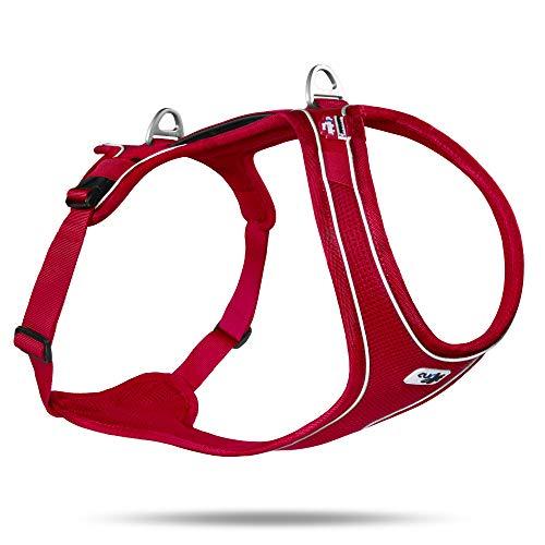 Curli Belka Comfort Geschirr,Red, XS
