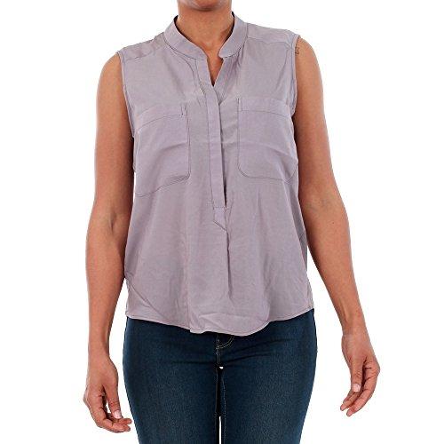 Vero Moda Camisa Mujer S Gris 10192814 VMERIKA Mix S/L Shirt NFS Gray Ridge