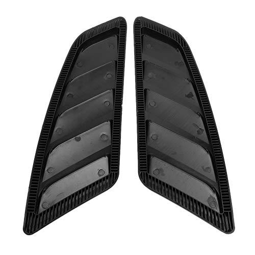 Qiilu Car Hood Vent Scoop Kit, 2 Piezas Car Auto Modification Hood Bonnet Vent Cover para Ford Mustang 2015-2017
