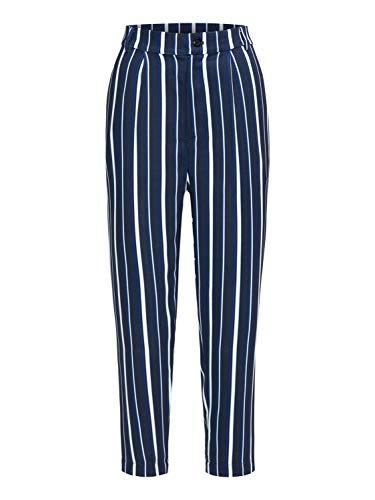 BROADWAY NYC FASHION Damen Hose Pants Poppy weiß S (36)