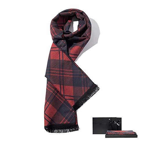 Bufandas Suave de la Bufanda de los Hombres Caliente Otoño Invierno Tela Escocesa de la Moda Bufandas Masculina Bufanda de Punto Grueso Caballero Compruebe Bufanda