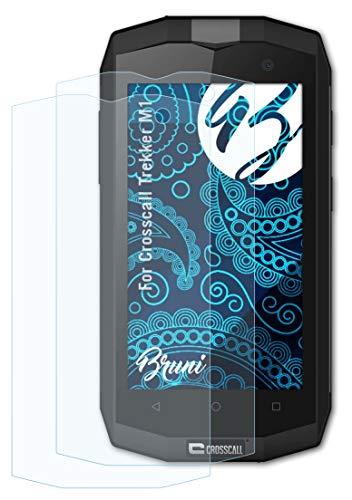 Bruni Schutzfolie kompatibel mit Crosscall Trekker M1 Folie, glasklare Bildschirmschutzfolie (2X)