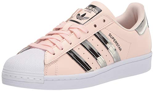 adidas Originals Women's Superstar Sneaker, Pink Tint/Silver Metallic/White, 8.5 M US