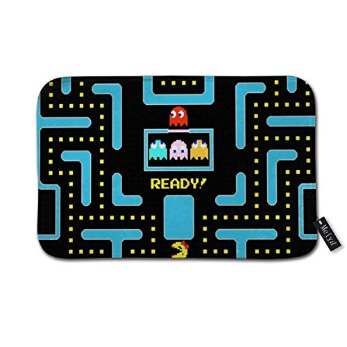 NA Pac Man Blue Doormat Floor Mat with Non-Slip Backing Bath Mat Rug Funny Home Decor 16inch*24inch,40cm*60cm