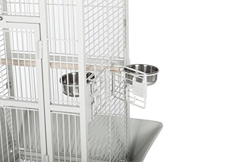 Prevue Hendryx Pet Products Wrought Iron Select Bird Cage, 18-Inch by 18-Inch by 57-Inch, Pewter