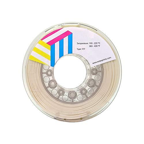 Eolas Prints | Filamento Flessibile 3D 100% TPU | Stampante 3D | Made in Europa, Adatto per uso alimentare e creazione giocattoli | 1,75mm | 1Kg | Beige