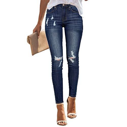 F_Gotal Jeans, Womens High Waisted Skinny Denim Stretch Slim Length Jeans