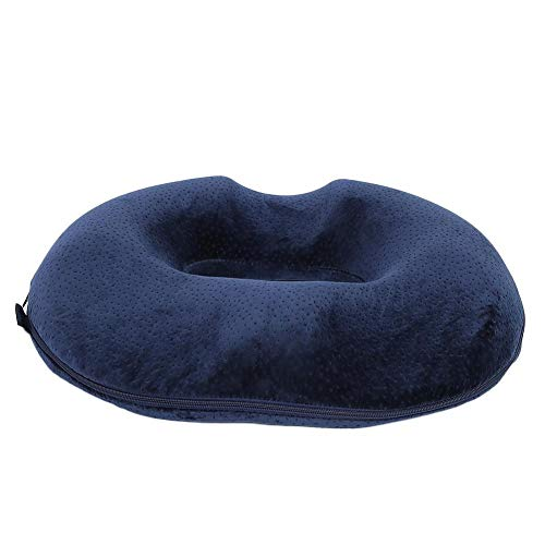 Donut Tailbone Pillow Hemorrhoid Seat Mat Great Support Hollow Design Comfortable Ergonomic Groove Design Pain Relief Breathable Memory Foam Office for Home