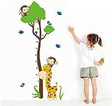 Çocuk Odası Dekoru Boy ve Gelişim Ölçer Büyük Boy Zürafa PVC Duvar Sticker
