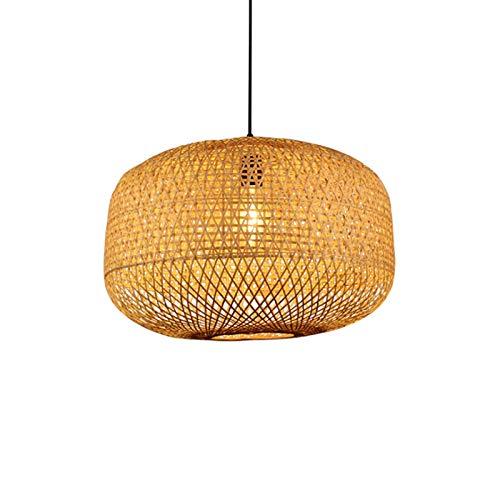 Chandelier de Luz Colgante Retro Araña de bambú arte de la lámpara Restaurante tailandés Club de Tea Room Rattan arte de la lámpara de la lámpara de la lámpara de bambú Zen Luz de Techo Industrial