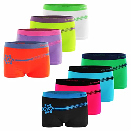 TEXEMP 6er Pack Damen Pantys - Frauen Shortys Boxershorts Microfaser Hipster Hotpants Unterhose Slip - Bunt - XL-XXL - 6er Pack