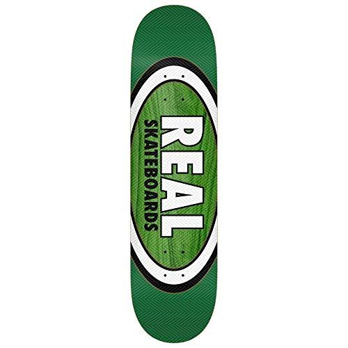 Real Skateboards Harry Lintell Am Edition - Tavola Ovale da Skateboard, 20,3 cm, Colore: Verde