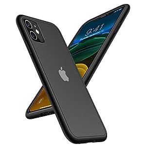 TORRAS iPhone 11 ケース 6.1インチ対応 半透明 耐衝撃 米軍MIL規格 マット感【2020年新型】 SGS認証 黄ばみなし レンズ保護 ストラップホール付き 高級感 アイフォン 11用カバー(ブラック)