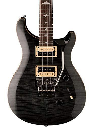 PRS Paul Reed Smith SE Custom 24 Floyd Rose Electric Guitar with Gig Bag, Gray Black