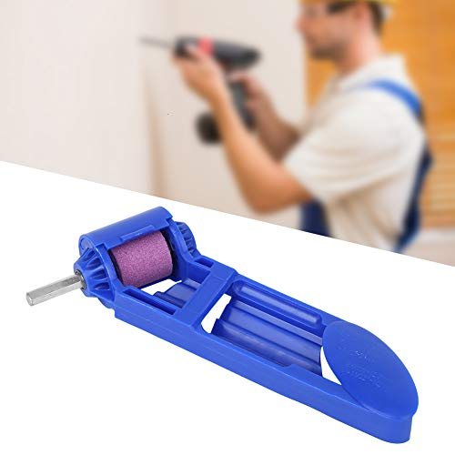 Tonysa Afilador de Broca portátil, Afilador de Broca de corindón Afilador de Broca eléctrica Herramienta Auxiliar Profesional Azul