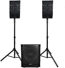 Gemini Sound Professional Audio LRX-448 Bluetooth Line Array PA System Kit, Pair of 4 x 4
