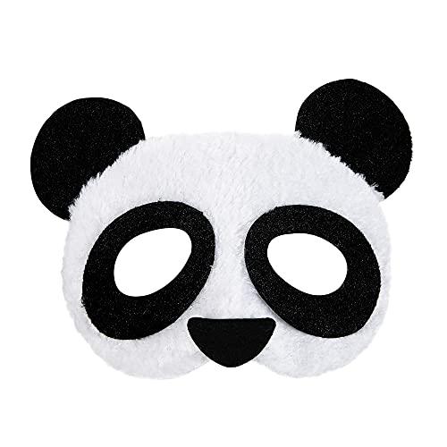 Máscara de ojo de oso panda Widmann 03881, unisex - adulto, negro-blanco, talla única