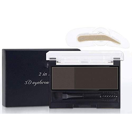 Aaiffey Eyebrow Powder Waterproof Adjustable Instant Eyebrow Stamp Makeup Kit Creates Natural Looking Brows Effortlessly