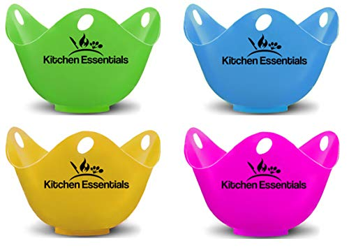 Kitchen Essentials Egg Poacher Cups (4 Pack) With Base Ring for Poached...