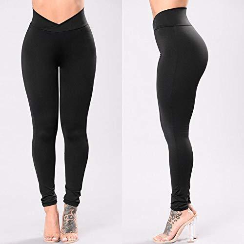 QIHERIYONGPIN Womens Hoge Taille Elastische Yoga Broek Leggings Fitness Workout Hardlopen Sport Broek Casual Womens Lange Leggings Slim Broek