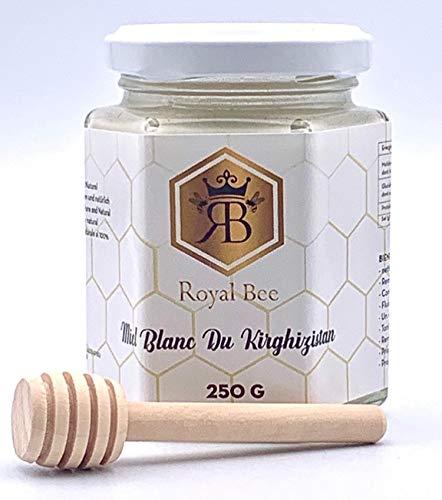 Miel blanc du Kirghizistan 200g + 1 Cuillère en bois Naturel