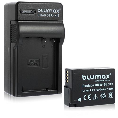 Blumax Akku ersetzt Panasonic DMW-BLC12 / DMW-BLC12-E 1000mAh + Ladegerät DMW-BLC12 | passend zu Lumix DMC: G5 | G6 | GX8 | G70 | G81 | GH2 | FZ200 | FZ300 | FZ1000 | FZ2000 | Leica V-Lux 4