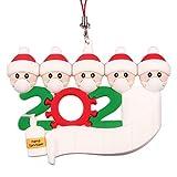 VWMYQ Christmas Ornament 2020 Tree Hanging Decorations Quarantine Survivor Customized 1-5 Family Name Toilet Paper Pattern Idea Gift
