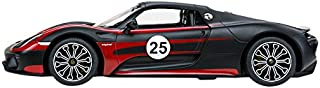 Carmel 47620W 1: 14 Porsche 918 Spyder Performance USB Charger 2.4Ghz with Lights Rechargeable Battery, Black Decals