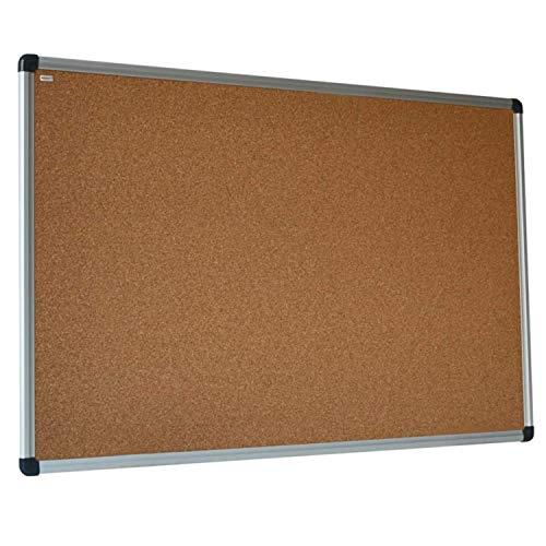 VISCOM Pinnwand Kork - 90 x 60 cm - Korkwand - Korktafel - Memoboard - Korkpinnwand mit Aluminiumrahmen, Weitere Größen Wählbar