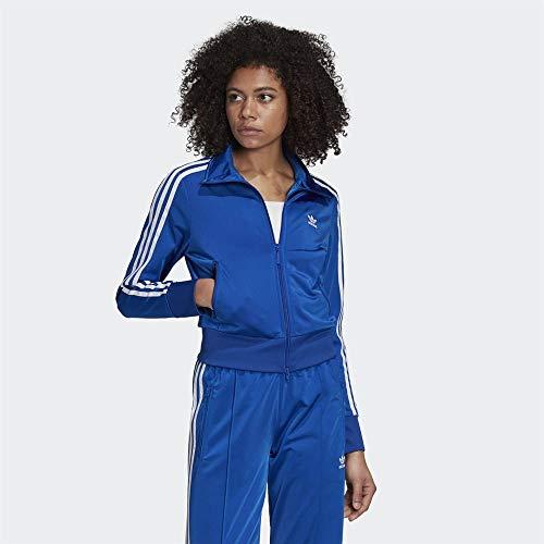 adidas Firebird TT, Felpa Donna, Team Royal Blue/White, 40