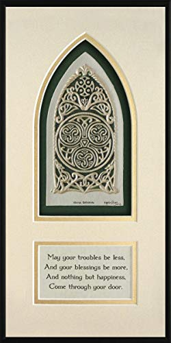 Celtic House Blessing - Cast Paper - Irish home blessing - Scottish - Celtic Knot Work - house warming gift - realtor closing gift